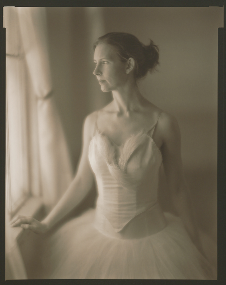 soft focus portrait of ballerina